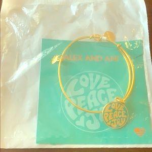 Alex and Ani bracelet- Love, Peace and Joy